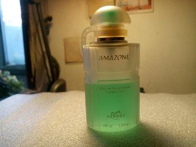 二手古董香水 愛馬仕Hermes Amazone Eau de Fraicheur淡香水1993年絕版! 瓶身高雅毛玻璃 台北市