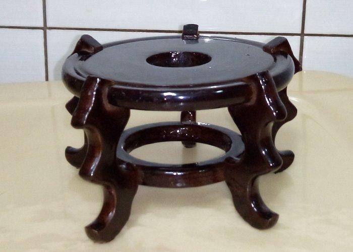 @居士林@藝品架-五爪木製架.適合當花瓶架.水晶球座.茶壺架.外直徑寬11公分.高7.4公分