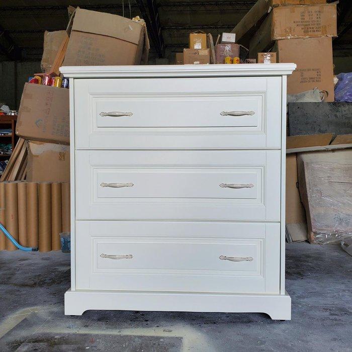 美生活館 訂製家具 客製化 美式鄉村古典風格 象牙白 三斗櫃 三抽櫃 收納櫃 置物櫃 玄關櫃 也可修改尺寸顏色再報價