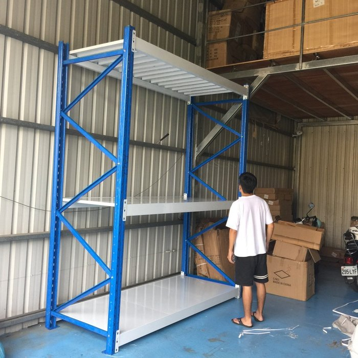 (大型可訂製) DIY免螺絲全鋼材角鋼架 烤漆多用途物料架 倉儲架 展示架 鐵架 陳列架 置物架 貨架 鋼架 收納展覽架