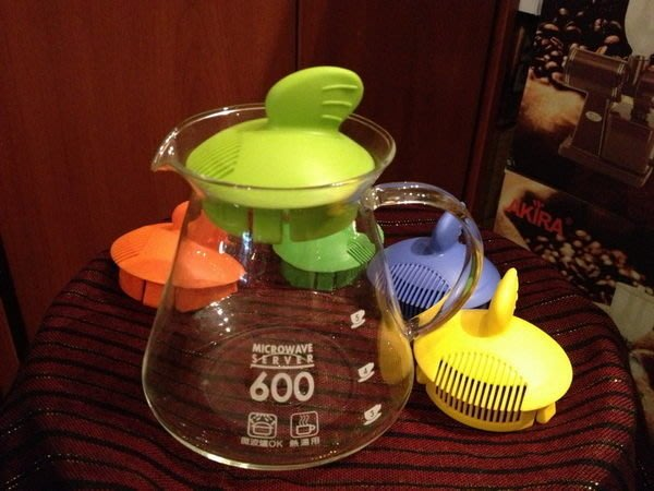 喜朵專業飲品批發~鯊魚造型咖啡壺泡茶壺茶壺花茶壺玻璃壺容量:600CC七彩多色可供選擇