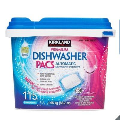 Kirkland Signature 科克蘭 洗碗機專用清潔錠 115入 costco 好市多