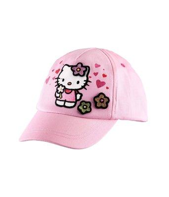 Ginny媽咪【英國H&M代購】Hello Kitty全新正品女童粉紅色棒球帽3D花朵 6-8Y 52cm現貨