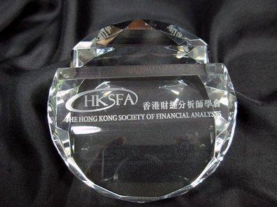 水晶卡片座 水晶咭片座 (連禮盒) 包刻字 Crystal Card Holder Crystal Award Crystal Trophy