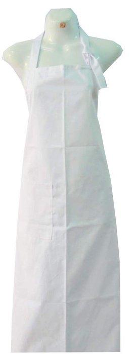 ☆°萊亞生活館 °圍裙 。全長圍裙。廚師圍裙。工作圍裙 【全長-繞頸-白色】
