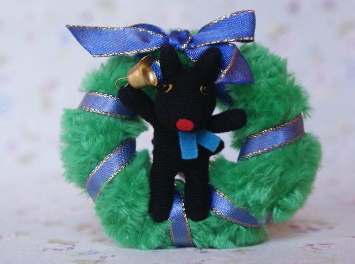 《Cat Sky》日本進口.卡斯伯與麗莎Gaspard et Lisa聖誕花圈Merry Christmas卡斯柏鑰匙圈