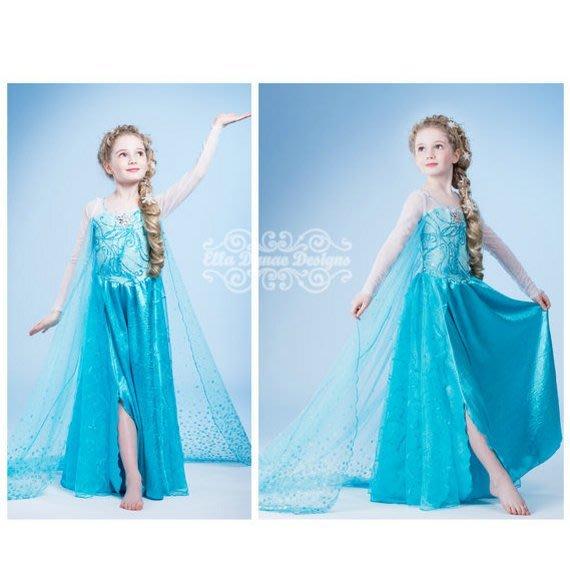 冰雪奇緣frozen女童elsa公主艾莎公主裝洋裝兒童雪花女王披風紗裙萬聖節耶誕生日伴娘小花童 現貨--崴崴安兒童館