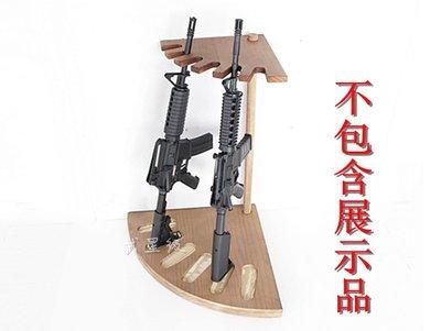 台南 武星級 實木 扇形 長槍 槍架 烤漆 ( 木製長槍架展示架槍櫃步槍狙擊槍來福槍獵槍衝鋒槍M4 CQB M4A1