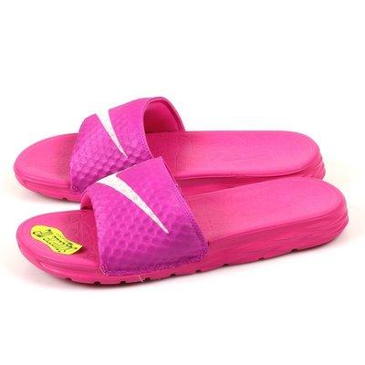 =CodE= NIKE W BENASSI SOLARSOFT SLIDE 防水拖鞋(粉桃紅) 705475-600 女