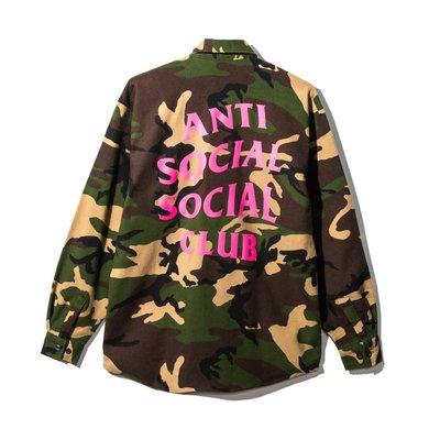 Anti Social Social Club Mirage Flannel 迷彩襯衫 經典Logo