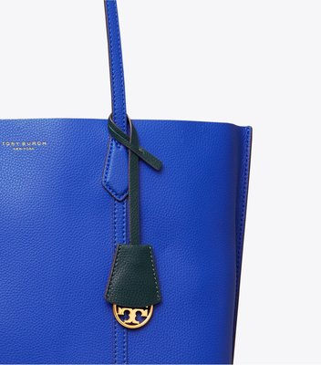 TORY BURCH PERRY TRIPLE-COMPARTMENT TOTE藍色大手袋
