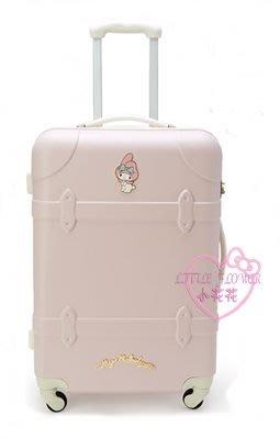 ♥小花花日本精品♥美樂蒂淡粉色硬殼造型行李箱L號