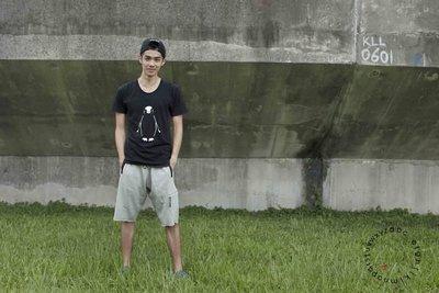 倫敦設計師品牌Unconditional純棉設計短褲   灰色/黑色