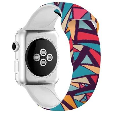 iwatch表帶可愛硅膠個性創意彩繪印花一二三四五代apple
