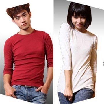 八分袖T恤 顯瘦彈性舒適素面男女八分袖貼身T恤-6色_特殺_恕不提供退換貨