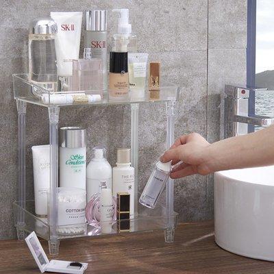收納盒 收納櫃 簡約 收納包 正韓 化妝品收納盒透明亞克力浴室收納架桌面護膚品廁所置物衛生間多層
