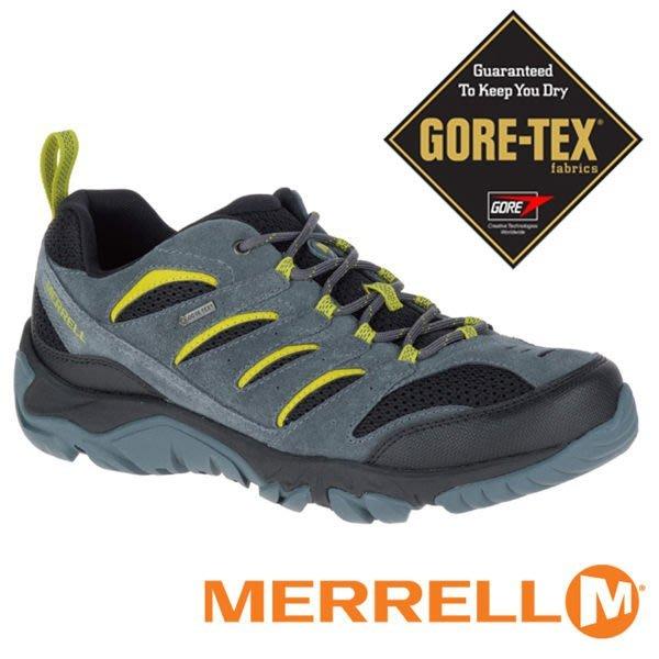 丹大戶外【MERRELL】WHITE PINE VENT GORE-TEX 男款多功能健行鞋『灰/黑/綠』ML09565