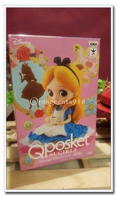 日本 正版 迪士尼 DISNEY Q posket 下午茶時間 喝咖啡的愛麗絲 正常色 景品 公仔