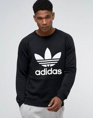 【Admonish】Adidas Originals 愛迪達 三葉草 黑色 黑白 大學t 長袖  AY7791