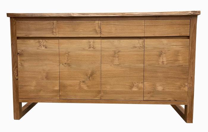 【宏品二手家具】台中全新中古2手傢俱家電最便宜 HM107ADA*全新柚木5尺餐櫃*高低櫃/置物櫃/電視櫃/矮櫃/平面櫃