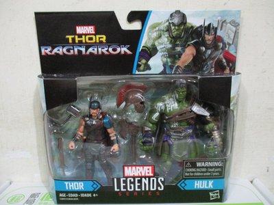 1戰隊正義聯盟DC復仇者聯盟MARVEL漫威3.75吋諸神黃昏傳奇電影人物2入Thor雷神索爾Hulk浩克五佰九一元起標