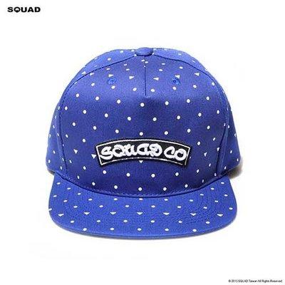 SQUAD 2013 A/W Polka Dots Rainbow Curve Cap 波卡圓點彩虹曲線帽 寶藍色