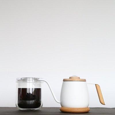 Simple Real TAMAGO單人咖啡手沖簡單組含350ml手沖壺330ml玻璃杯