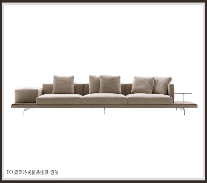 DD 國際時尚傢俱-燈飾 B&B Italia DOCK Sofa 一字型布沙發比利時進口布 (復刻版)