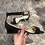 JIMMY CHOO黑色水晶復古楔型跟2cm涼鞋/淑女鞋(38.5號)~~全新品5折出清