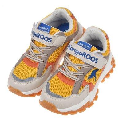 童鞋(19~23公分)KangaROOS袋鼠酷炫TERMINATOR卡其黃兒童運動鞋W1P991K