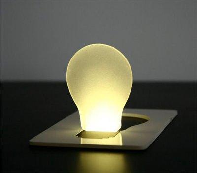 【新奇屋】創意超薄卡片燈 卡片燈泡 小夜燈 led卡片燈