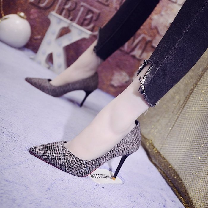 高跟鞋大呎碼女鞋氣質靴子尖頭跟鞋低跟鞋性感夜店鞋細跟/女尖頭性感歐美時尚氣質女單鞋通勤工作鞋淺口
