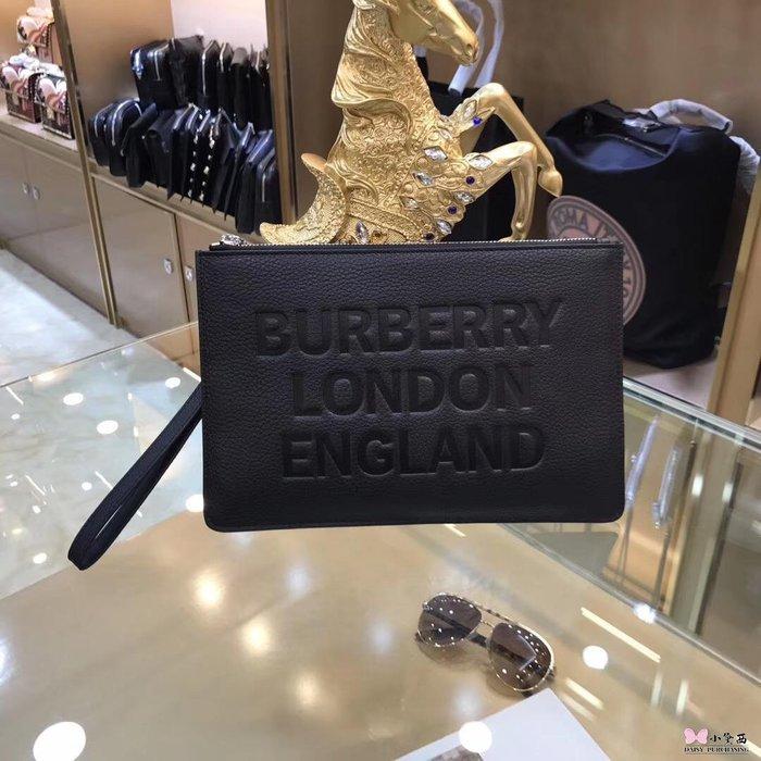 【小黛西歐美代購】Burberry 巴寶莉  新款 男士手拿包 大LOGO 英倫時尚 美國outlet代購