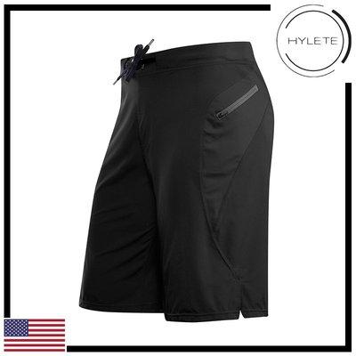 ►瘋狂金剛◄ 硬漢黑 HYLETE Verge II Flex-Woven Zip Pocket 抗菌 快速排汗 短褲