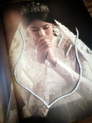 ~璦藏新娘飾品~極簡約鋯石項鍊 編號Z87