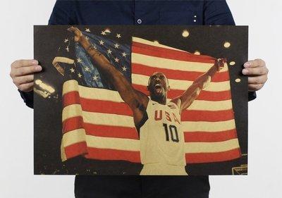 【貼貼屋】NBA Kobe Bryant 柯比·布萊恩 小飛俠 湖人隊 籃球 懷舊復古 牛皮紙 海報 壁貼823