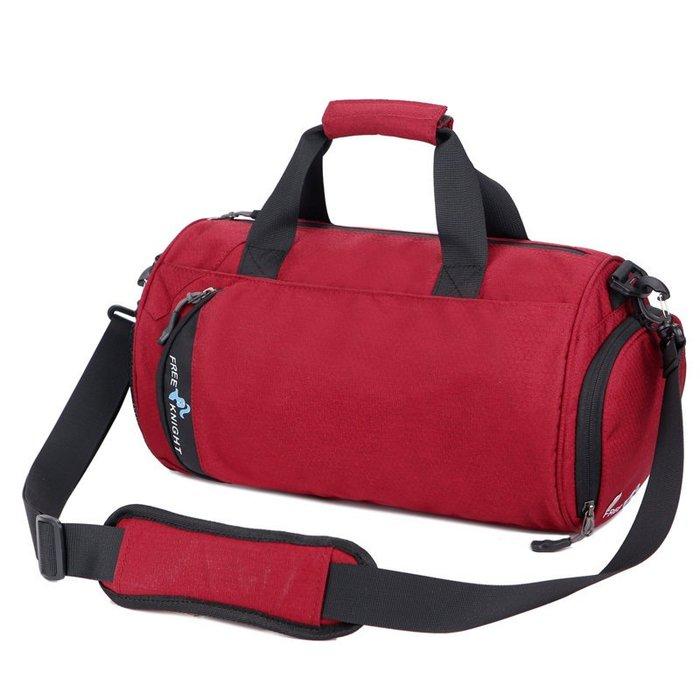 【FREE KNIGHT】休閒運動側背包/健身包(小號)fK0606RD紅色