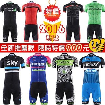 【購物百分百】2016年新款 夏季短袖套裝 自行車衣 腳踏車衣 單車衣 騎行服 吸濕排汗 萊卡透氣 車衣車褲短套裝