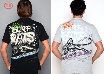 清倉-[男裝]100%全新真品Ed Hard Surf Rats Enzyme棉質短袖POLO衫~黑色/灰色~特價出清!