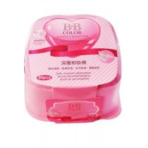 BB COLOR四方形深層卸妝棉(粉色)【小7美妝】