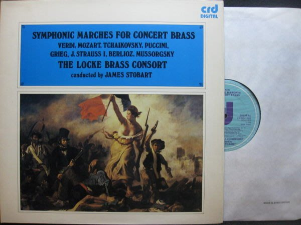A381*CRD數位*英國版黑膠唱片*Locke Brass Consort --Symponic Marches for Concert Brass*NM