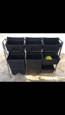白鐵 不銹鋼 塑料 儲存桶 儲糧筒 垃圾桶 儲水備用 固定架 二手 出清