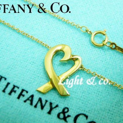 【Light & co.】專櫃真品已送洗 TIFFANY & CO 750 K金 18K 緞帶 愛心 心形 項鍊  Loving Heart