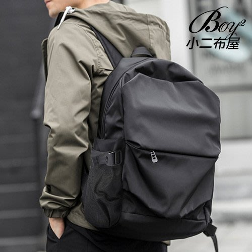 BOY2小二布屋-後背包 酷黑防水大容量輕盈休閒背包【NQA5174】