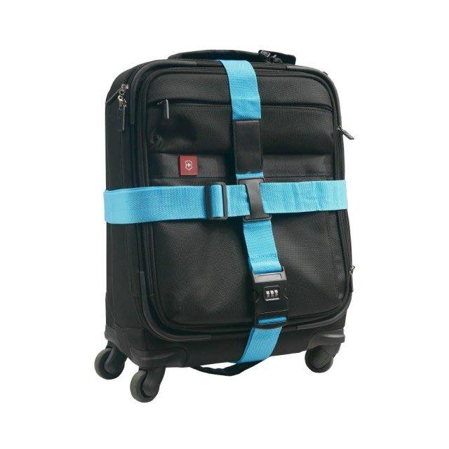【TRENY直營】 密碼鎖十字行李帶 (天藍 紅 五彩 三色) 行李束帶 附收納袋 防止爆箱