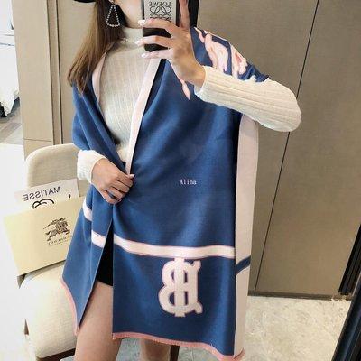 Alina 精品代購Burberry 巴寶莉 英倫都會時尚BT字母橫條保暖圍巾 披肩 顏色1 outlet代購
