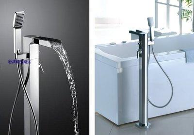 【歐築精品衛浴】BETTOR✰ 泉瀑系列立柱式瀑布浴缸龍頭