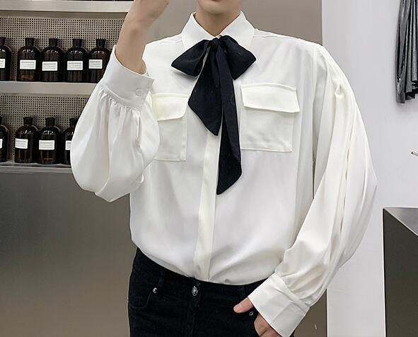 FINDSENSE 品牌 2019 春季 新款 寬鬆  潮流  個性 社會 男青年 免燙 襯衫 復古 氣質