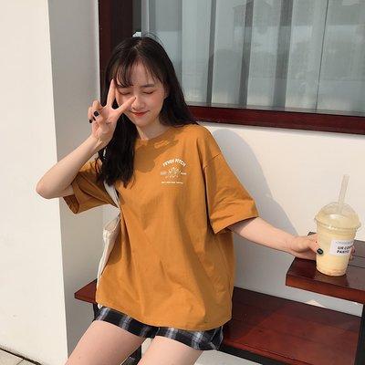 夏季2019新款超火cec短袖t恤女寬松上衣韓版ins學生森系半袖體恤《拾月生活小鋪