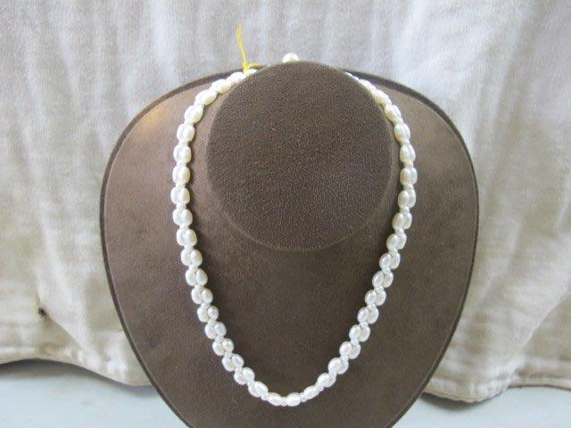 二手舖~ NO.9 天然珍珠項鍊 母親節 手鍊戒指墜子首飾手環耳環 (珍珠大小約4-8mm)